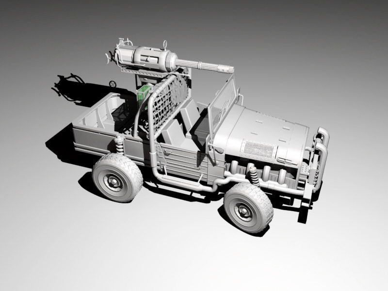 Armored Military Truck 3d rendering