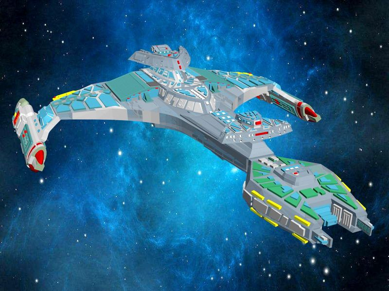 Star Trek Klingon Vorcha Battle Cruiser 3d rendering