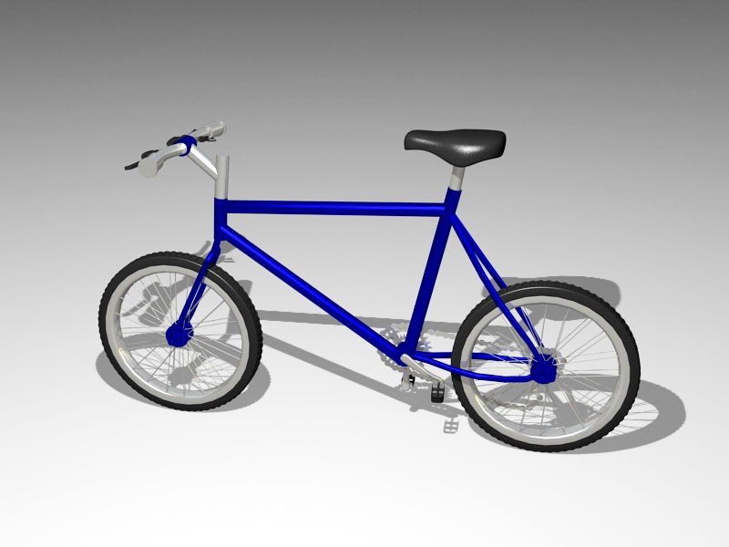 Simple Bicycle 3d rendering
