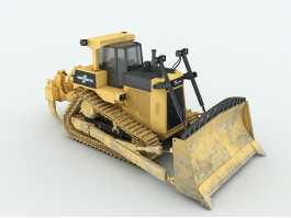 Heavy Tracked Bulldozer 3d preview