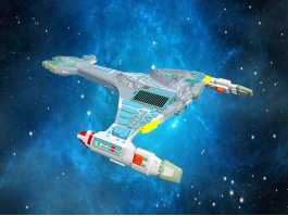 Star Trek Klingon Vorcha Battle Cruiser 3d preview