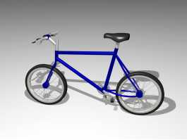 Simple Bicycle 3d preview
