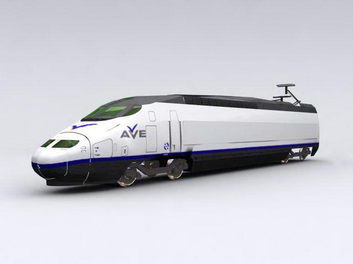 Maglev Train 3d rendering