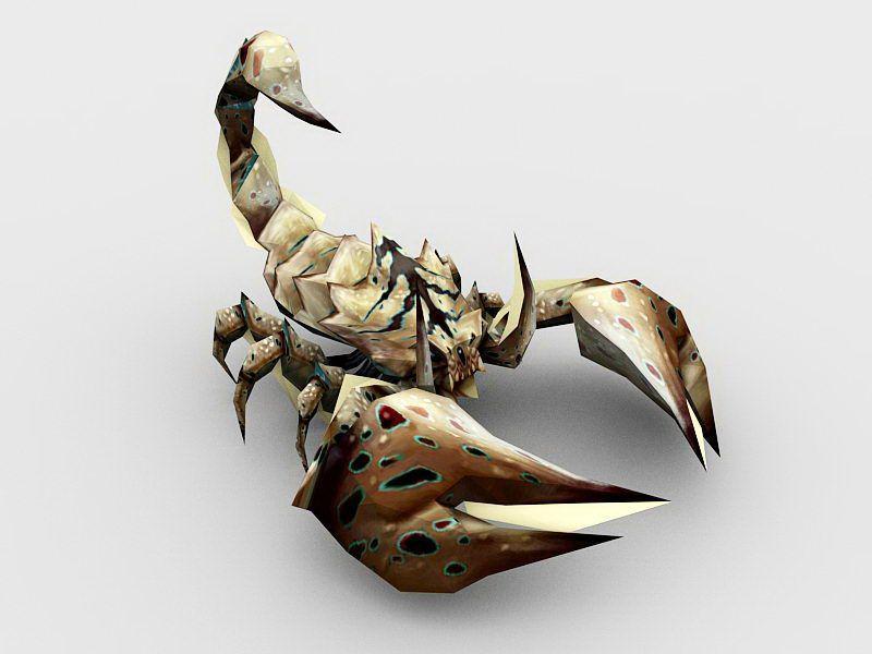 Rock Scorpion 3d rendering