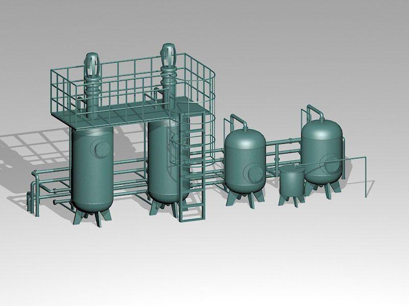 Industrial Storage Silo 3d rendering