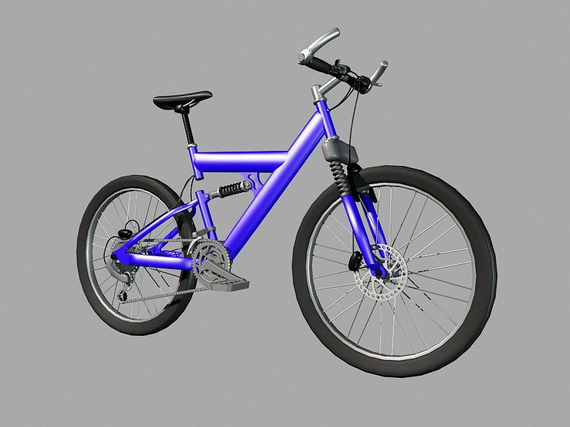 Mountain Bicycle 3d rendering