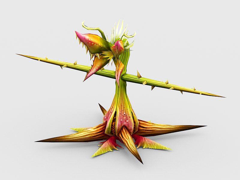 Man-Eating Plant 3d rendering