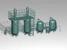 Industrial Storage Silo 3d preview