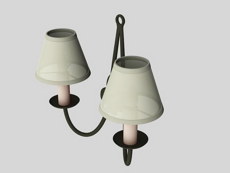 Wall Lights Sconce 3d rendering