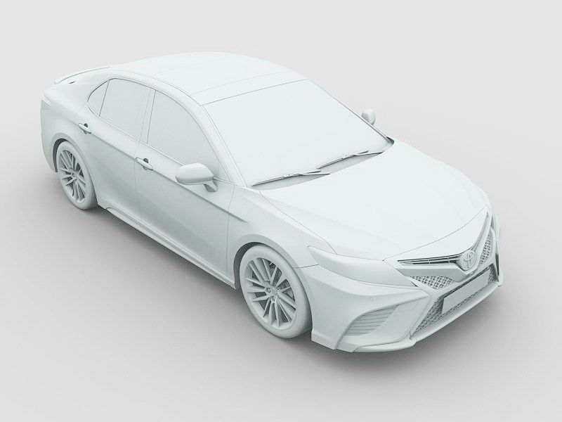 Toyota Camry 2018 3d rendering
