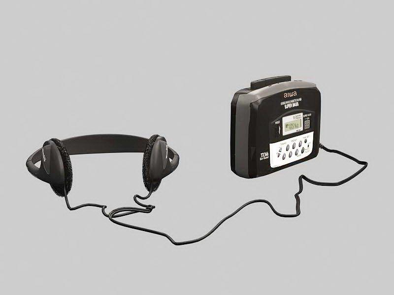 Walkman Portable Cassette Player 3d rendering