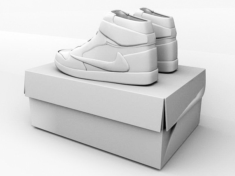 Nike Air Jordan Shoes 3d rendering