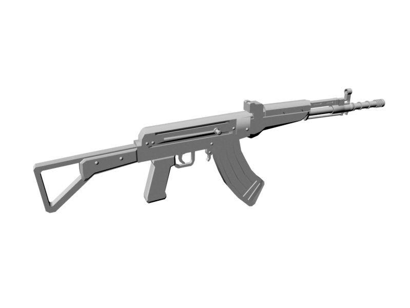 AK-47 3d rendering