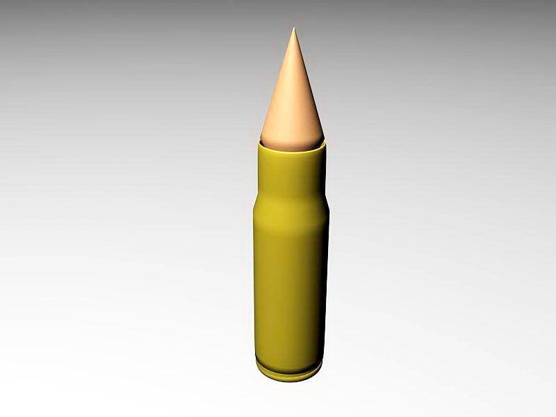 Bullet Firearm Ammunition 3d rendering