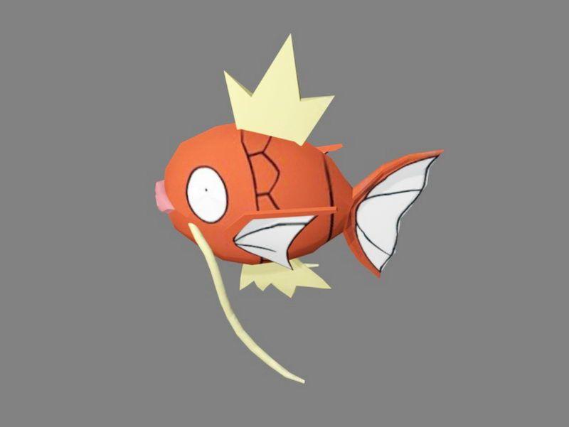 Red Cartoon Fish 3d rendering