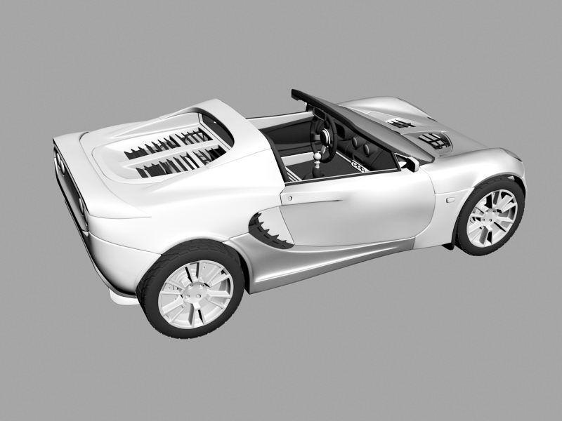 Lotus Elise Car 3d rendering
