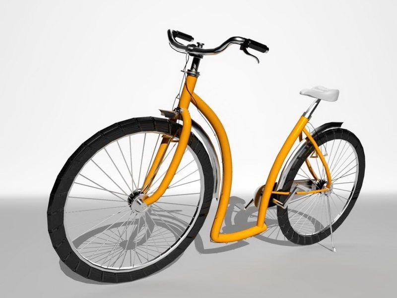 Vintage European Bicycle 3d rendering