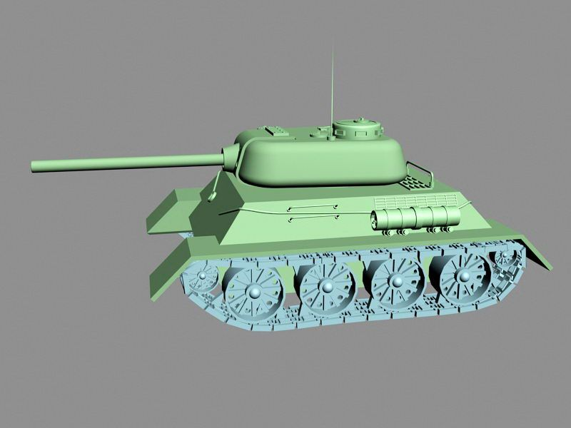 Small Tank 3d rendering