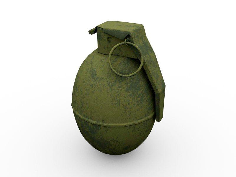 Old Grenade 3d rendering