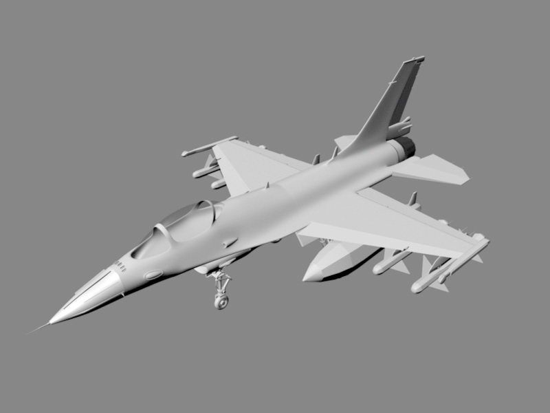 Modern Fighter Plane 3d rendering