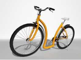 Vintage European Bicycle 3d preview