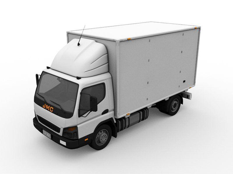 JMC Van Truck 3d rendering