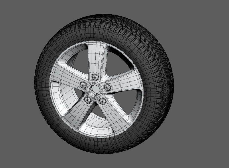 Car Wheel 3d rendering