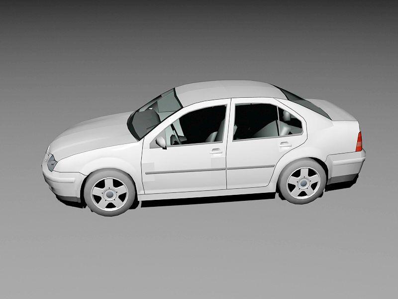 Volkswagen Bora Car 3d rendering