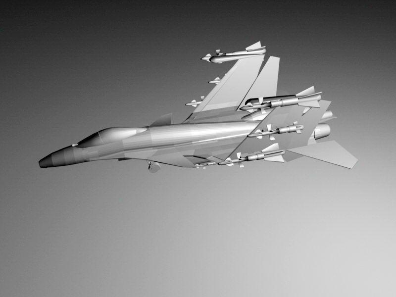 J-15 Fighter 3d rendering