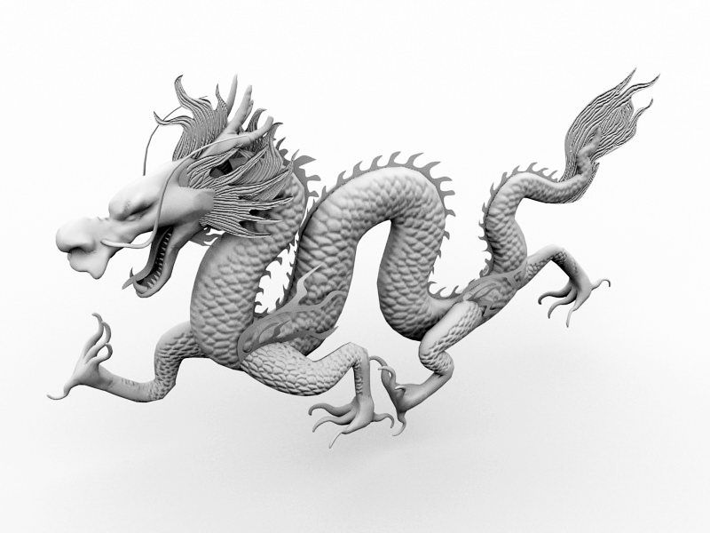Mythical Chinese Dragon 3d rendering