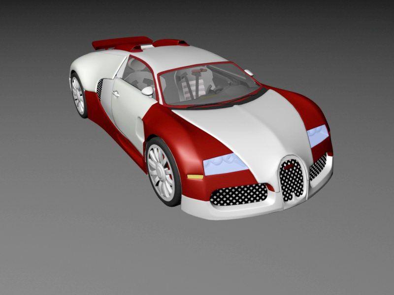Bugatti Veyron EB 3d rendering