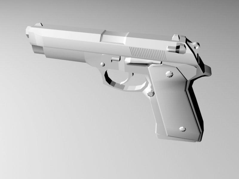 Military Pistol 3d rendering