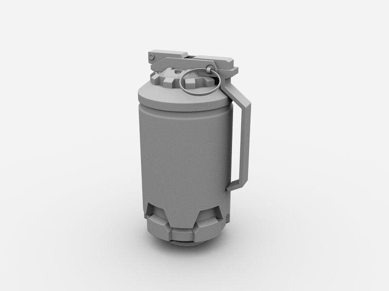 Hand Grenade 3d rendering