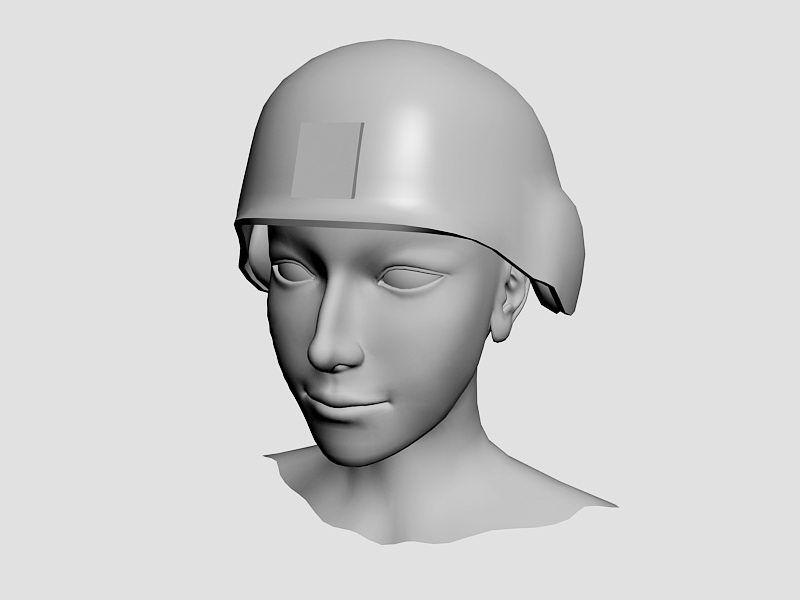 Woman Head 3d rendering