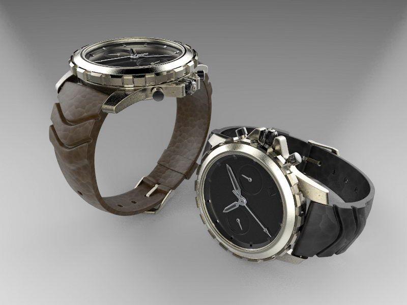 Dive Watch 3d rendering