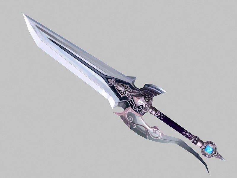 Fancy Dagger 3d rendering