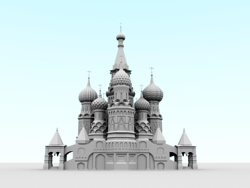 Saint Basil's Cathedral 3d rendering