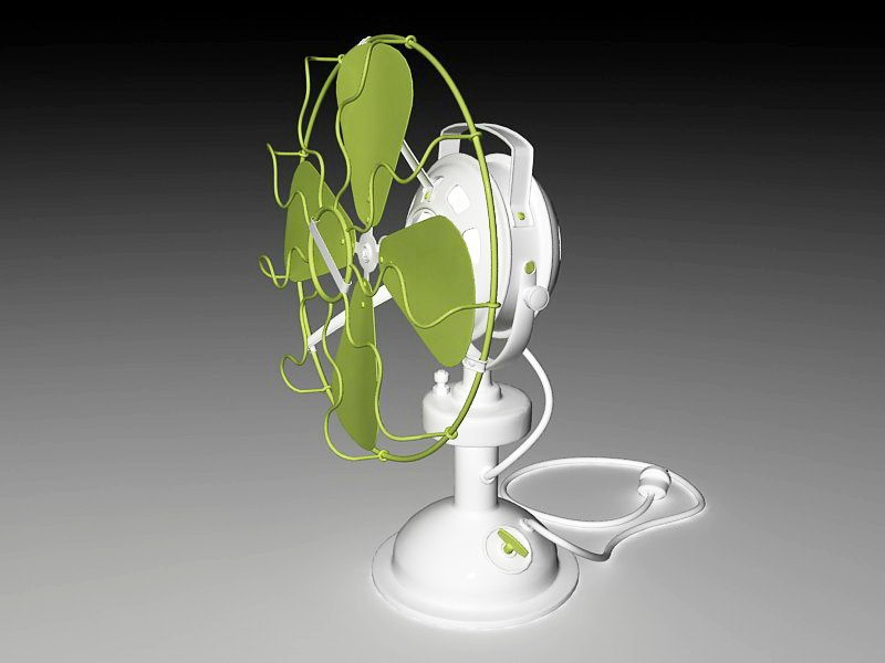 Modern Desk Fan 3d rendering