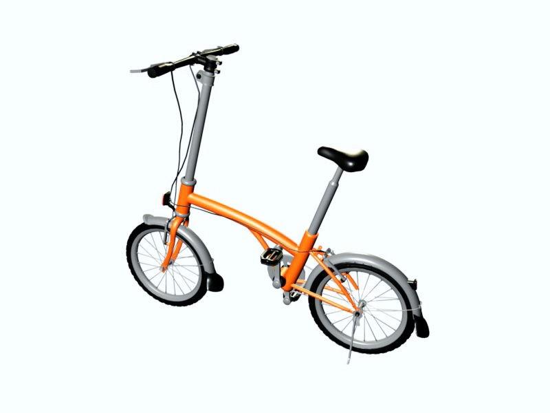 Lady Bicycle 3d rendering