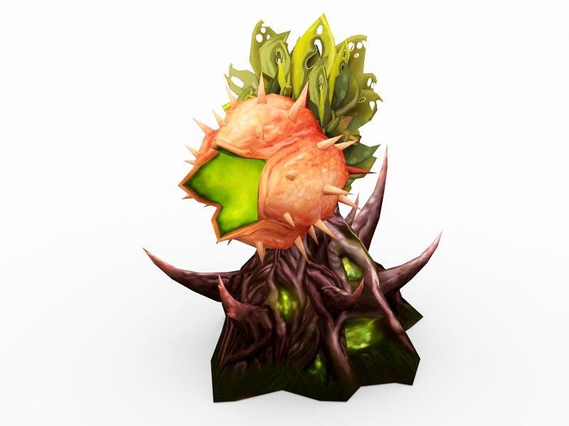 Giant Man-Eating Plant 3d rendering