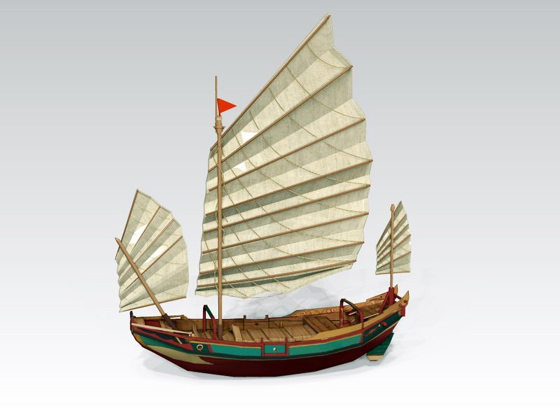 Galleon Sailing Ship 3d rendering