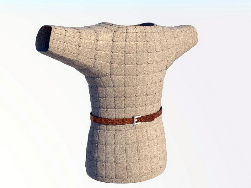 Cloth Armour 3d rendering