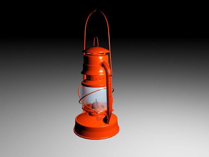 Hot Blast Lantern 3d rendering