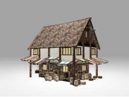 Medieval Village Tavern 3d model preview