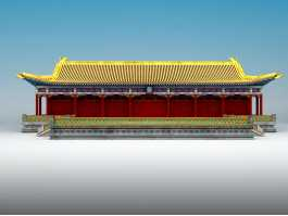 Chinese Palace Architecture 3d preview