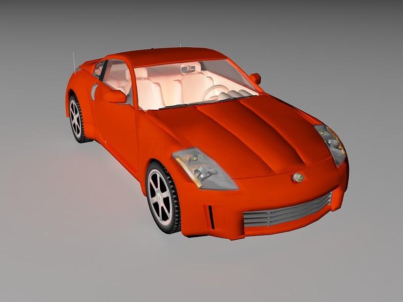 Mazda Sports Car 3d rendering