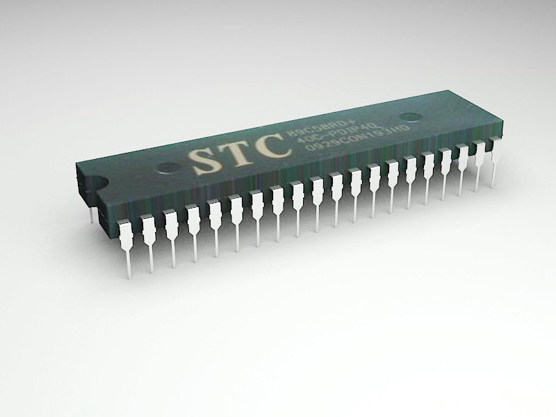 Intel MCS-51 Microcontroller 3d rendering