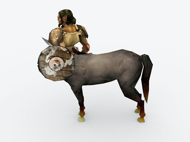 Armored Centaur 3d rendering