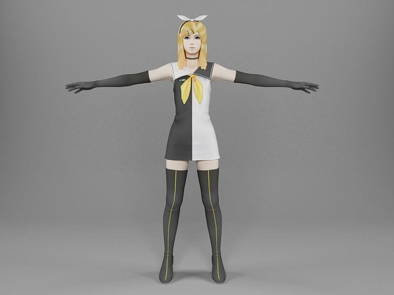 Bunny Girl 3d rendering