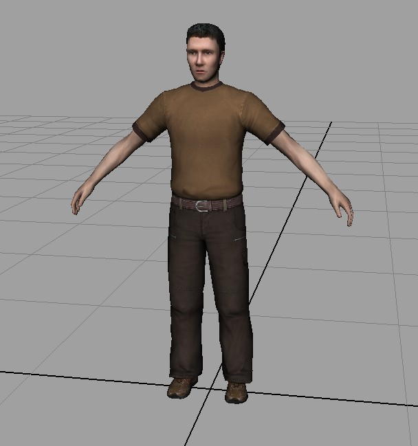 Casual Man Character 3d rendering